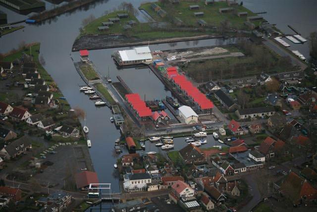 Luchtfoto Klassieke schepenhaven Terhorne