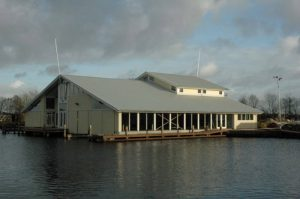 Zuidgevel schepenhuis klassieke schepenhaven Terhorne